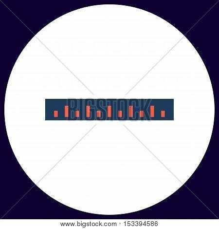 Straightedge Simple vector button. Illustration symbol. Color flat icon