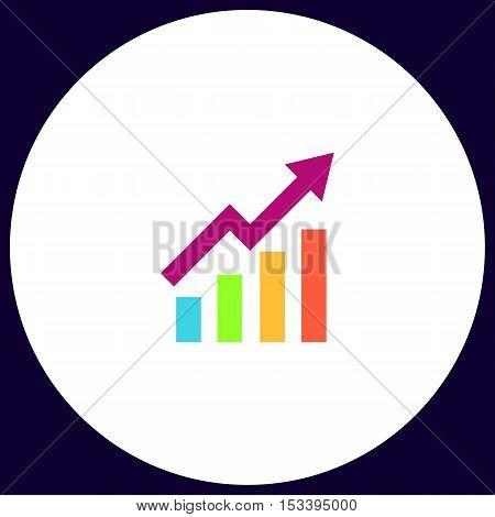 graphic Simple vector button. Illustration symbol. Color flat icon