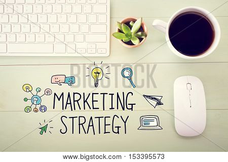 Marketing Strategy Concept With Workstation