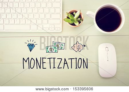 Monetization Concept With Workstation