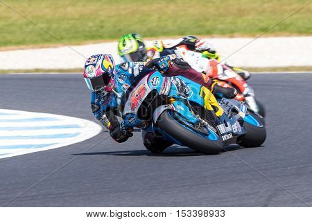 MELBOURNE AUSTRALIA – OCTOBER 23: MotoGP warm-up during during the 2016 Michelin Australian Motorcycle Grand Prix at 2106 Michelin Australian Motorcycle Grand Prix Australia on October 23 2016.