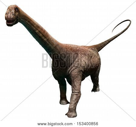 Malawisaurus from the Cretaceous era 3D illustration
