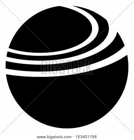 Geometric Circle With Dynamic Ellipse Lines. Circle Icon