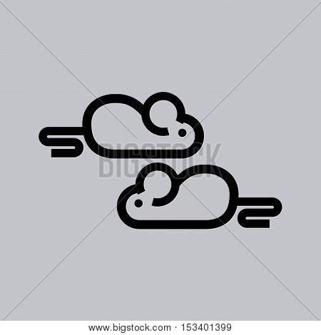 Laboratory mouse line icon vector illustration design
