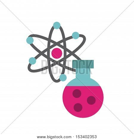 molecule particule laboratory icon vector illustration design