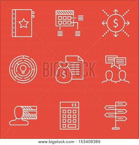 Set Of Project Management Icons On Investment, Innovation And Warranty Topics. Editable Vector Illus