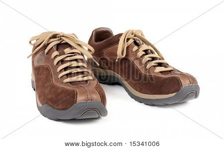 Jogging shoes isolated on white background