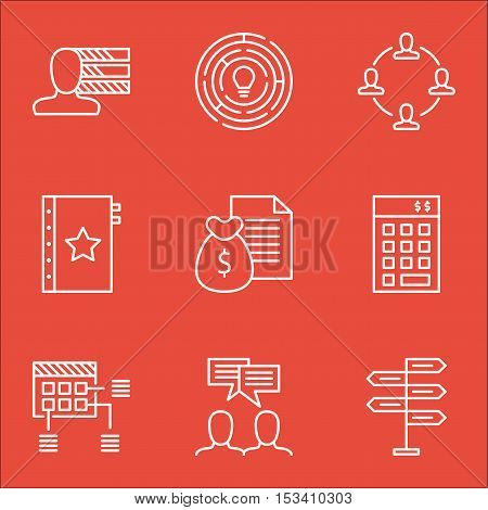 Set Of Project Management Icons On Opportunity, Warranty And Collaboration Topics. Editable Vector I