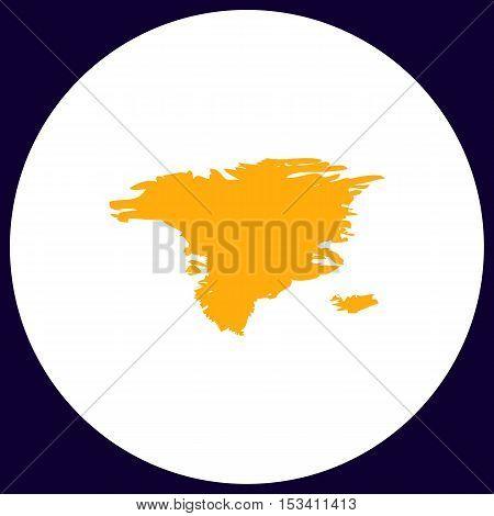Alaska Simple vector button. Illustration symbol. Color flat icon