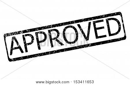 approved rubber stamp. stamp approved with red text over white background