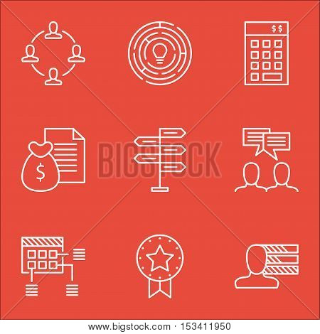 Set Of Project Management Icons On Personal Skills, Innovation And Discussion Topics. Editable Vecto