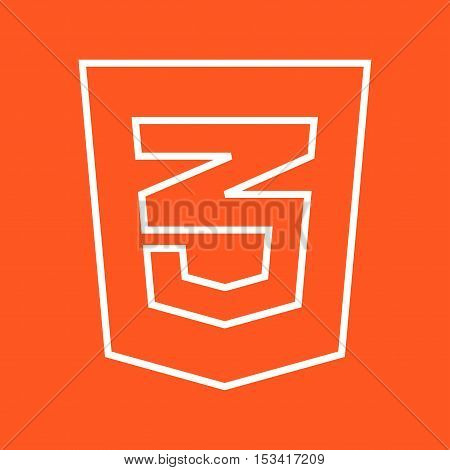 CSS3, style, web icon vector image. Can also be used for social media logos. Suitable for mobile apps, web apps and print media.