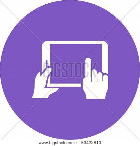 Laptop, tablet, touch icon vector image. Can also be used for hand actions. Suitable for mobile apps, web apps and print media.
