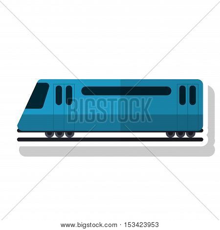 bullet train vehicle icon. transportation travel and trip theme. Isolated design. Vector illustration