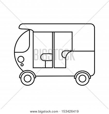three wheeler vehicle icon. transportation travel and trip theme. Isolated design. Vector illustration