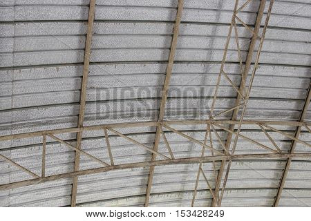 carpark metal roof structure steel industrial building indoor