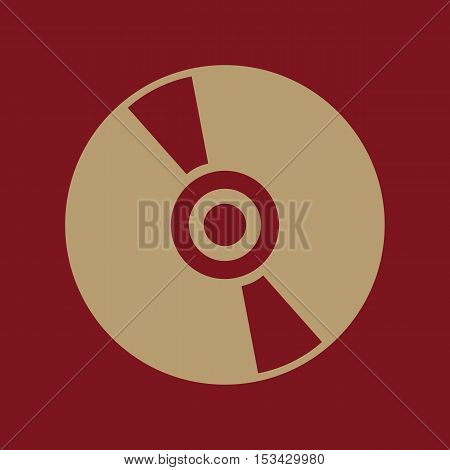 The cd icon. Compact disk symbol. Flat Vector illustration