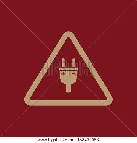 The electric plug icon. Electric plug symbol. Flat Vector illustration