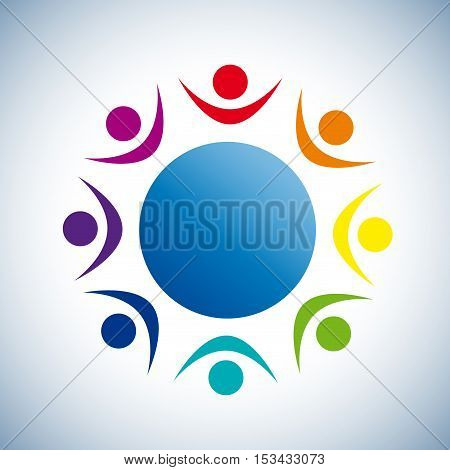 Vector sign Solidarity on the world, abstract shape, isolated illustration