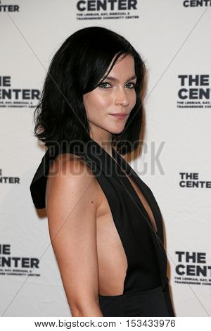 NEW YORK-APR 2: DJ Leigh Lezark attends the 2015 Center Dinner at Cipriani Wall Street on April 2, 2015 in New York City.