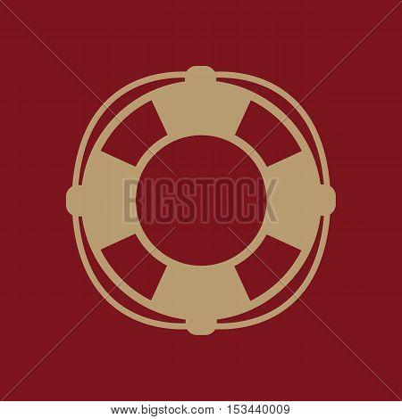 The lifebuoy icon. Lifebelt symbol. Flat Vector illustration