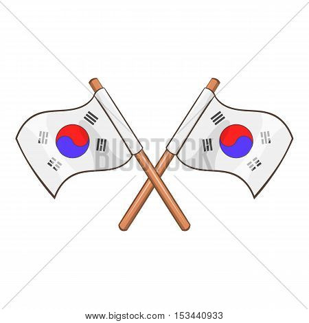 South Korea flags icon. Cartoon illustration of South Korea flags vector icon for web design