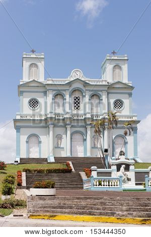 The picturesque church of Sainte Marie in West Indies, Martinique