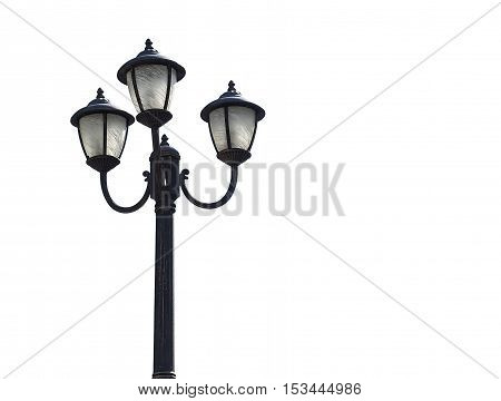 Street lamp isolated on a white background.