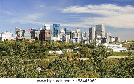 View of downtown Edmonton - Canada Alberta