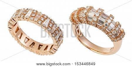Close Up On Beautiful Red Gold Rings