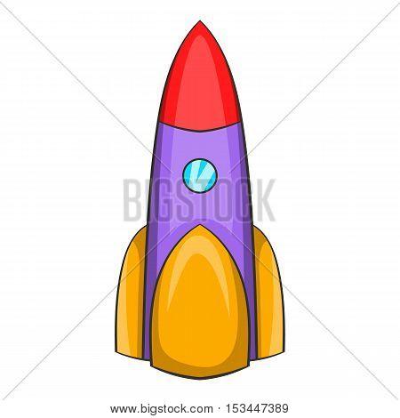 Ballistic rocket icon. Cartoon illustration of ballistic rocket vector icon for web