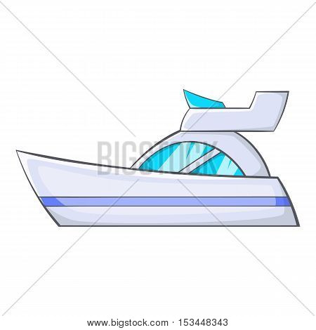 Little powerboat icon. Cartoon illustration of little powerboat vector icon for web