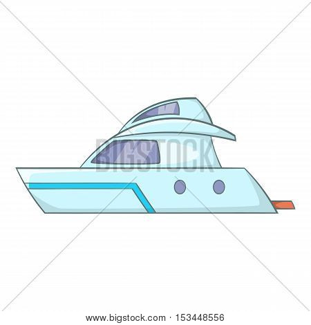 Planing powerboat icon. Cartoon illustration of planing powerboat vector icon for web