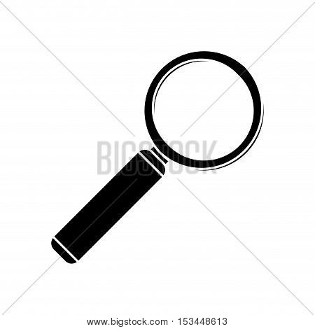 Lupe tool icon. instrument find seo zoom and optical theme. Isolated design. Vector illustration