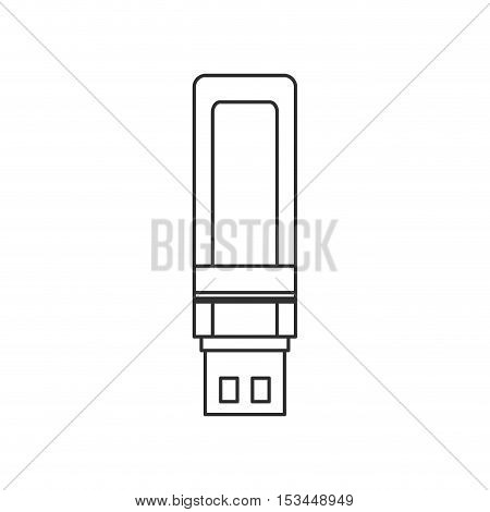 Usb icon. Connection technology equipment hardware and data theme. Isolated design. Vector illustration