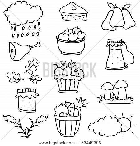 Hand draw stock thanksgiving on doodles vector art