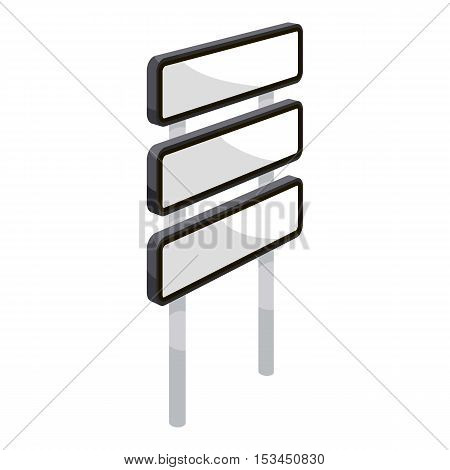 Road signpost with three signs icon. Cartoon illustration of road signpost with three signs vector icon for web