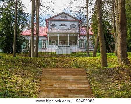 ABRAMTSEVO, RUSSIA - MAY 1, 2016: Memorial manor Abramtsevo artistic and literary museum-reserve. Main Manor House