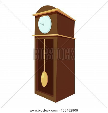 Large wall clock icon. Cartoon illustration of large wall clock vector icon for web