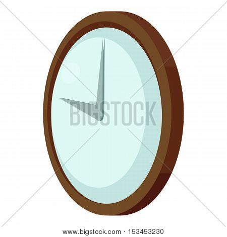 Round wall clock icon. Cartoon illustration of round wall clock vector icon for web