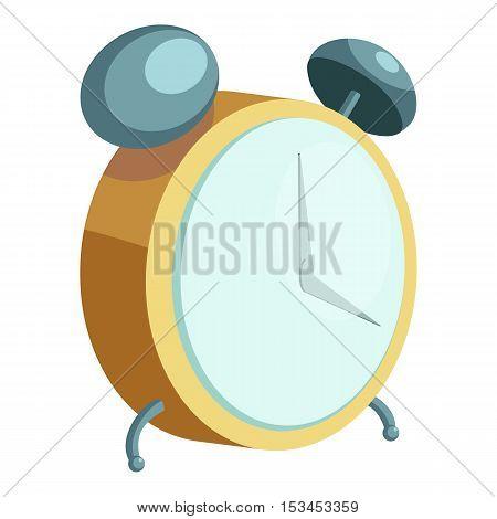 Alarm clock icon. Cartoon illustration of alarm clock vector icon for web