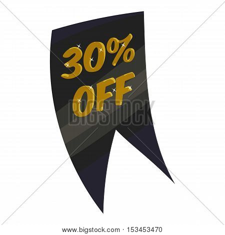 Tag thirty percent discount icon. Cartoon illustration of tag thirty percent discount vector icon for web