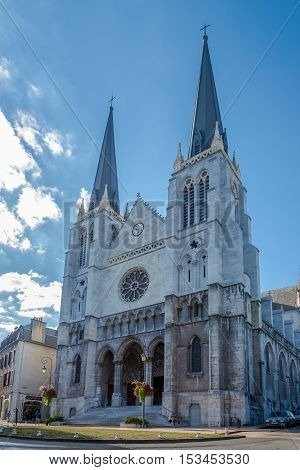 PAU,FRANCE - AUGUST 30,2016 - Saint Jacques church in Pau. Pau is a commune on the northern edge of the Pyrenees.