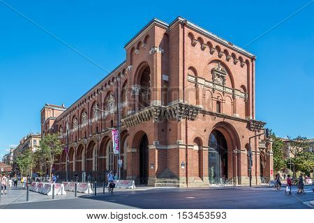 TOULOUSE,FRANCE - AUGUST 30,2016 - Museum of Augustins in Toulouse. Toulouse is the capital city of the southwestern French department of Haute-Garonne as well as of the Occitanie region.