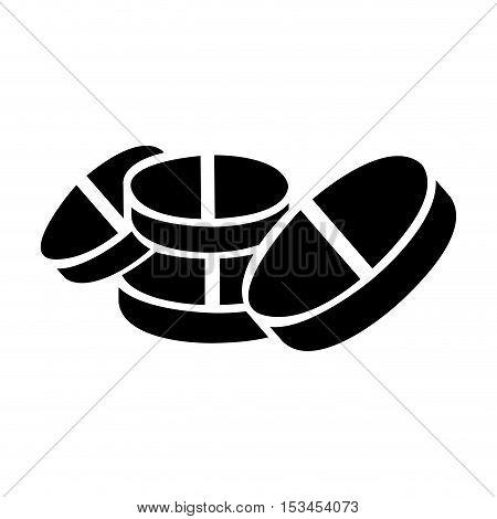 medicine tablet or pill icon image vector illustration design