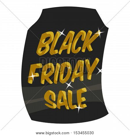 Tag sale black friday icon. Cartoon illustration of tag sale black friday vector icon for web