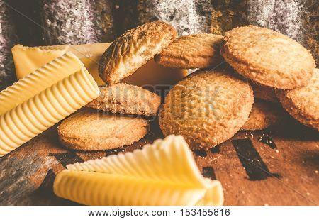 Vintage Butter Shortbread Biscuits