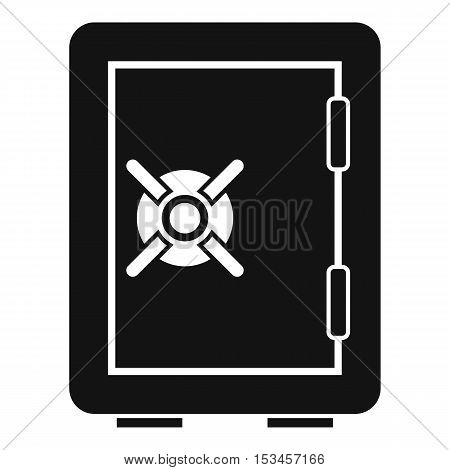 Safety deposit box icon. Simple illustration of safety deposit box vector icon for web