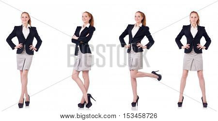 Busineswoman isolated on the white background