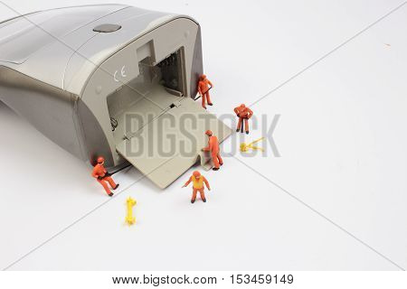 The Tiny Worker At Working